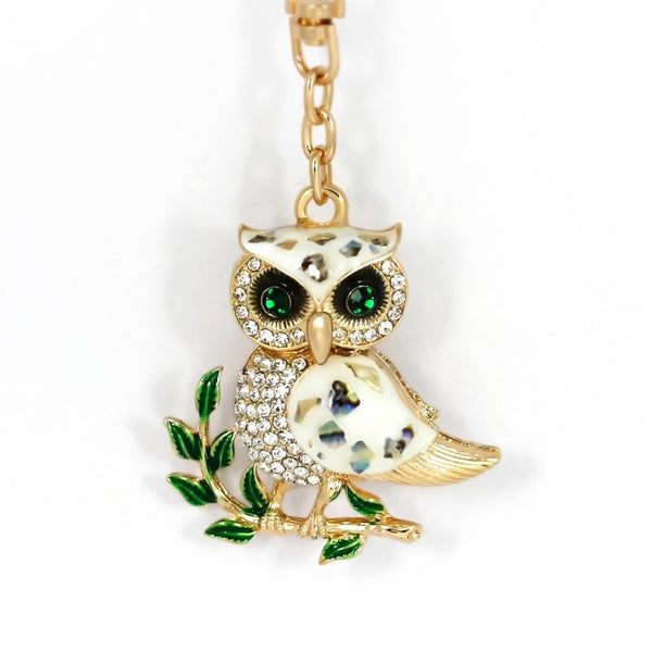 Mystic Green Eye Owl Bag Charm