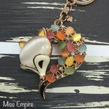 Moonstone Elder Fox Bag Charm