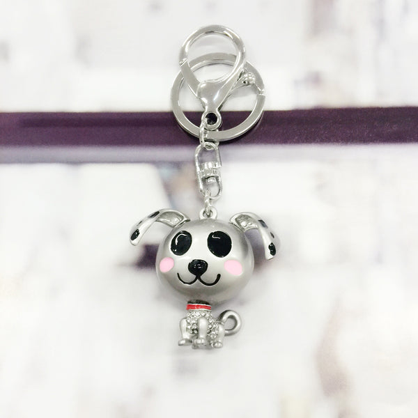 Metallic Dog Bag Charm