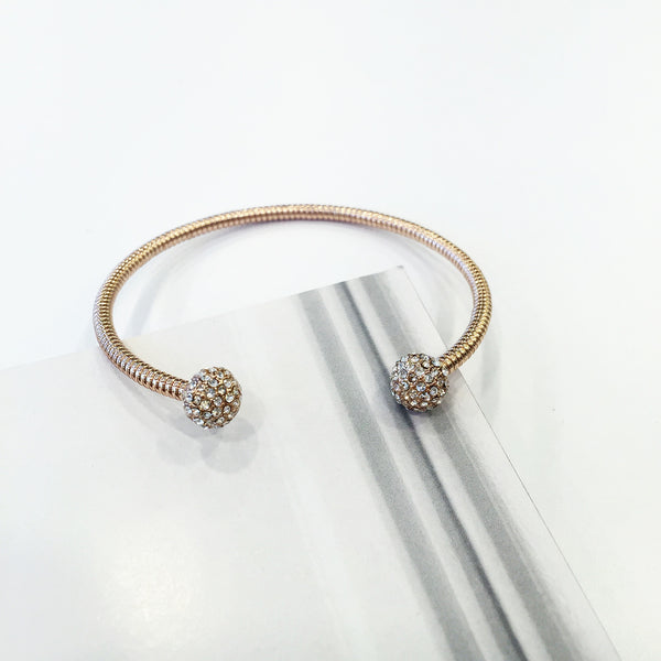 Crystalised Ball Open Bangle