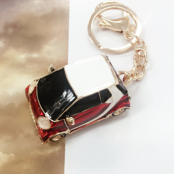 Classic Red Car Bag Charm