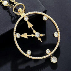 Eternal Timeless Clock Necklace