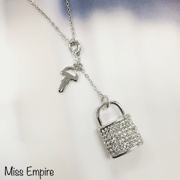 Lock and Key Charm Necklace