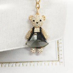 Crystal Teddy Bag Charm