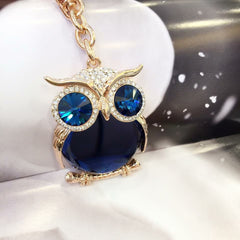 Blue Wise Owl Bag Charm