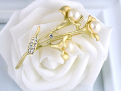 Golden Tulips Brooch