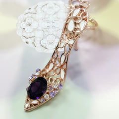 Purple Jewel High Heel Bag Charm