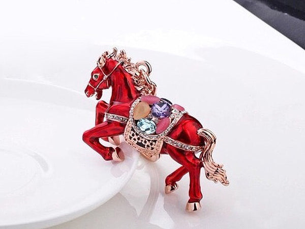Glorious Stallion Moonstone Bag Charm