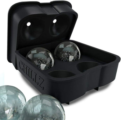 Silicone Mold Ice Ball Maker Mold 4 X 4.5 cm -Round Ice Ball Spheres 1.78 inches - EMBERIC