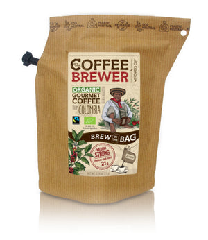 Kava Coffeebrewer - Colombia (Medium / Strong), Fairtrade & Organic, 1 pakelis (2 puodeliai kavos)