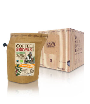Kava Coffeebrewer - Ethiopia (Medium), Fairtrade & Organic, 12 pakelių dėžė (24 puodeliai)