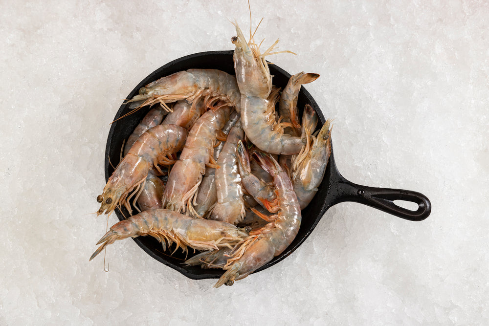 """Fresh"" Wild Louisiana White Shrimp ...Heads On $16.00lb"