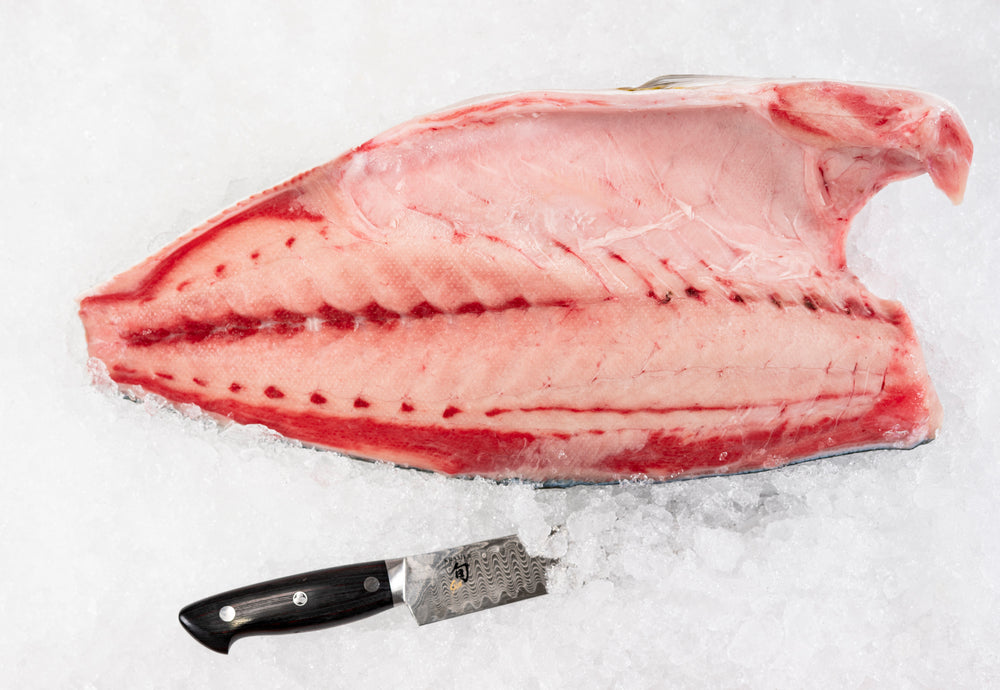 "Imported Japanese Wild Hamachi filet (4.5lb) 22.25lb  ""Sushi Lovers favorite"""