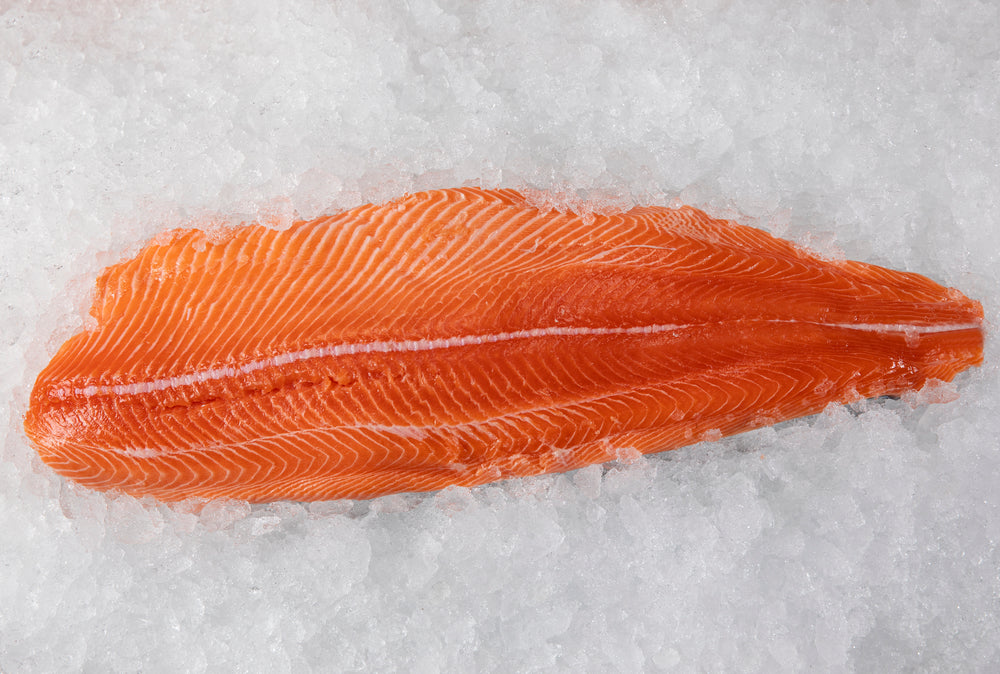 Load image into Gallery viewer, Fresh Canadian King Salmon       (14lb Whole Fish)                                 12.50lb