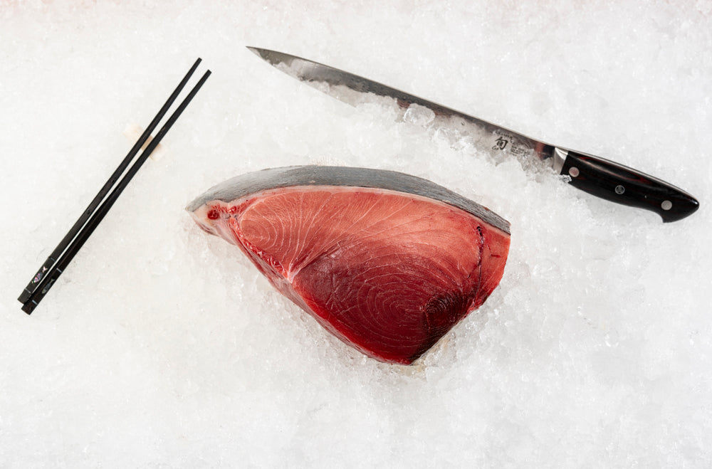 "Fresh Blue Fin Tuna ""Center Cut"" Loin $40.00lb  ""Sushi chefs favorite"""