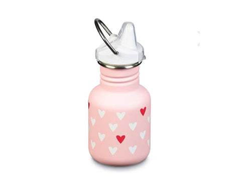 Klean Kanteen thermosfles 355 ml met Beugel - Kid Kanteen Sippy Millenial Hearts