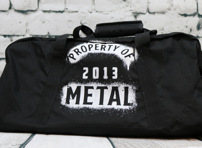 Property of Metal Duffel Bag