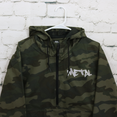 Graffiti-Mashup Camo Anorak Jacket