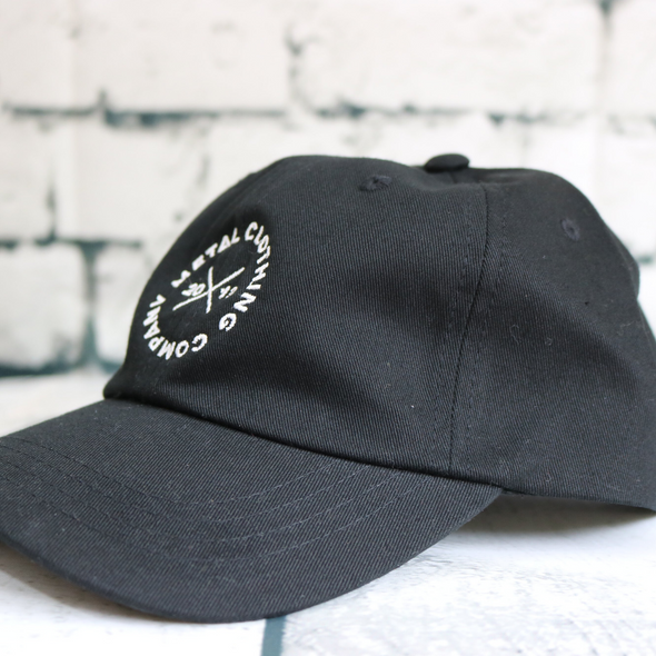Metal Ellipse Black Dad Hat