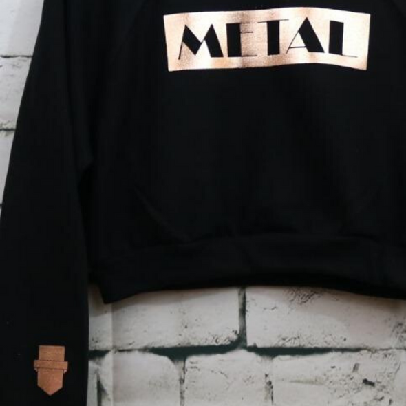 Metal Broadway Black Crop Sweater