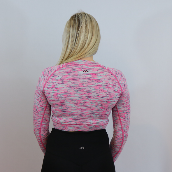 Triumph Heathered Pink Crop Long Sleeve