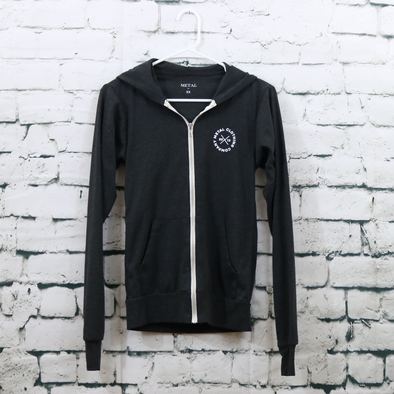 Ellipse Charcoal Zip