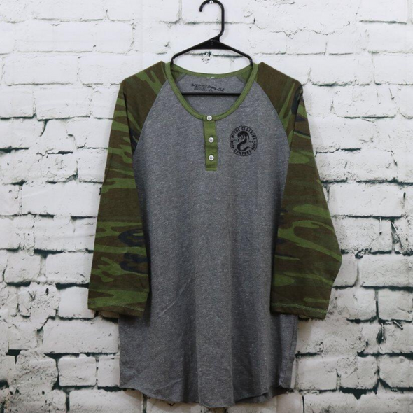 Metal Serpent Grey Henley