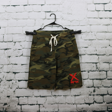 Metal X Fleece Camo Shorts