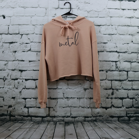 Spirit Peach Crop Fleece Hoodie