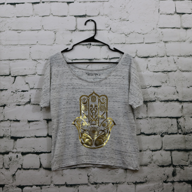 Women's Hamsa Heather Grey Slouch Tee