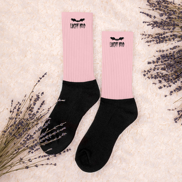 Pink Lucky Void Crew Socks