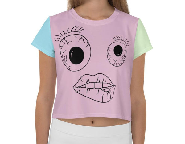 Wide Eyed Cropped Tee