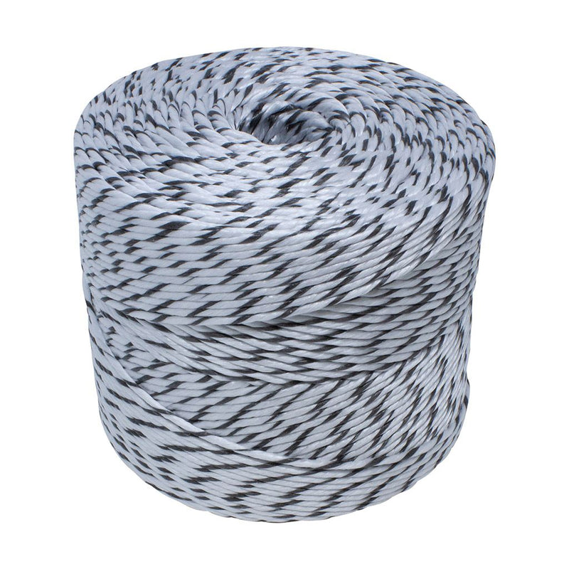 3.5mm Black and White Polypropylene Social Distancing Twine/Rope - 2.5kg Spool