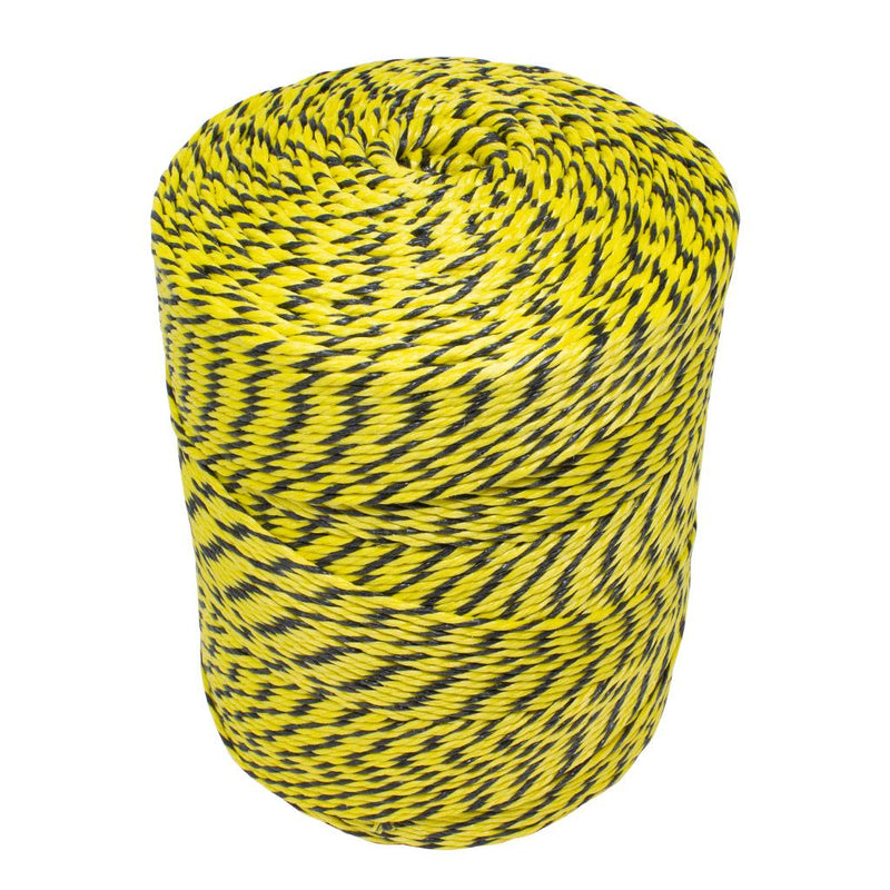 3mm Yellow and Black Polypropylene Social Distancing Twine/Rope - 4kg Spool
