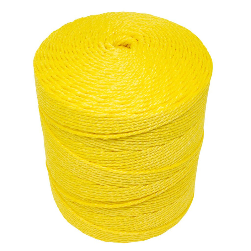 3mm Yellow Polypropylene Social Distancing Twine/Rope - 4kg Spool