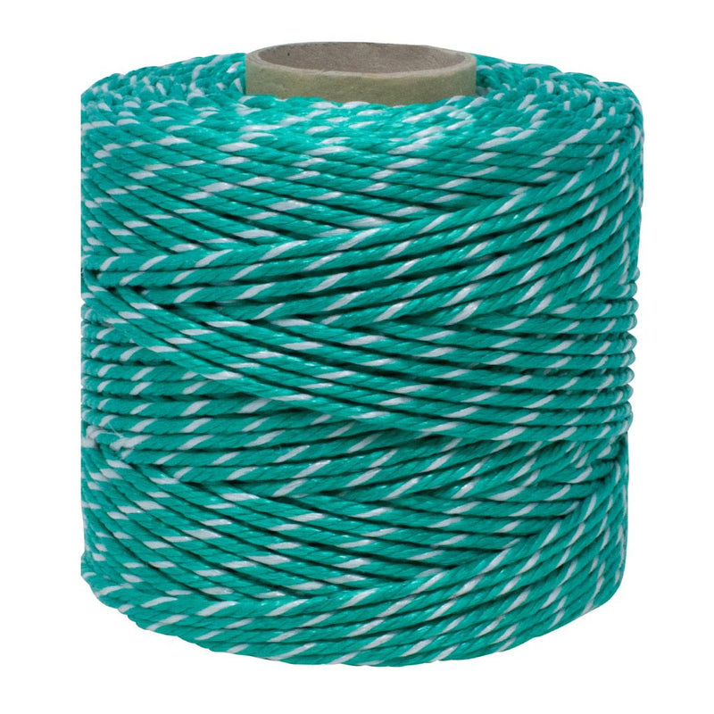 Polypropylene 1.3Kg Green and White Baling Twine