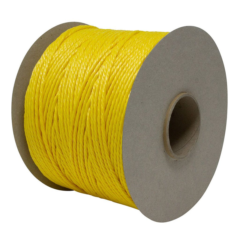 Polypropylene 1.7Kg Yellow Baling Twine With Flange