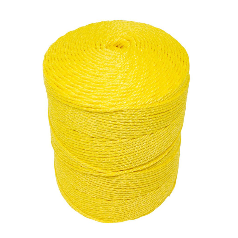 4mm Yellow Polypropylene Social Distancing Twine/Rope - 2.5kg Spool
