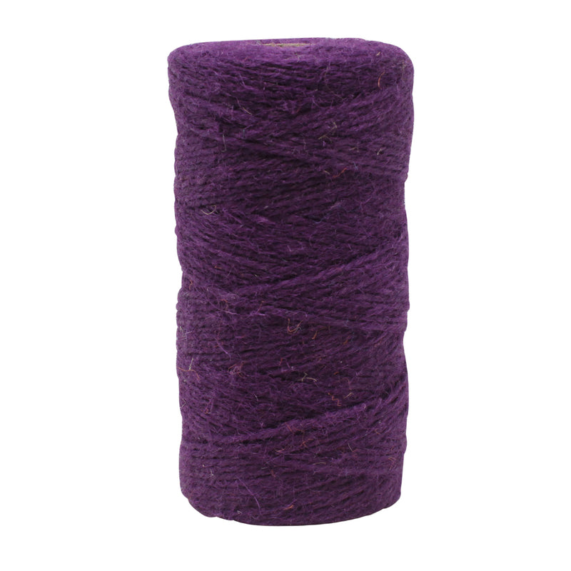 3 Ply Aubergine Jute Craft Twine Reel