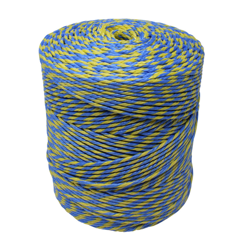 Polypropylene 2.5Kg Blue and Yellow Gardening Rope/Twine