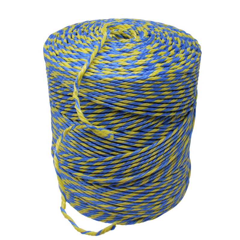 Polypropylene 2.5Kg Blue and Yellow Rope/Twine