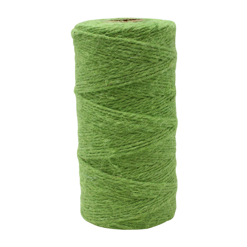3 Ply Lime Green Jute Twine Reel