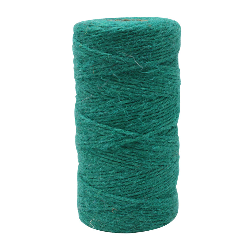 3 Ply Turquoise Jute Craft Twine Reel
