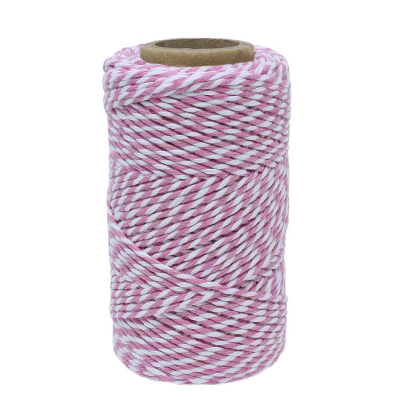 Baby Pink & White No.6 Cotton Bakers Twine