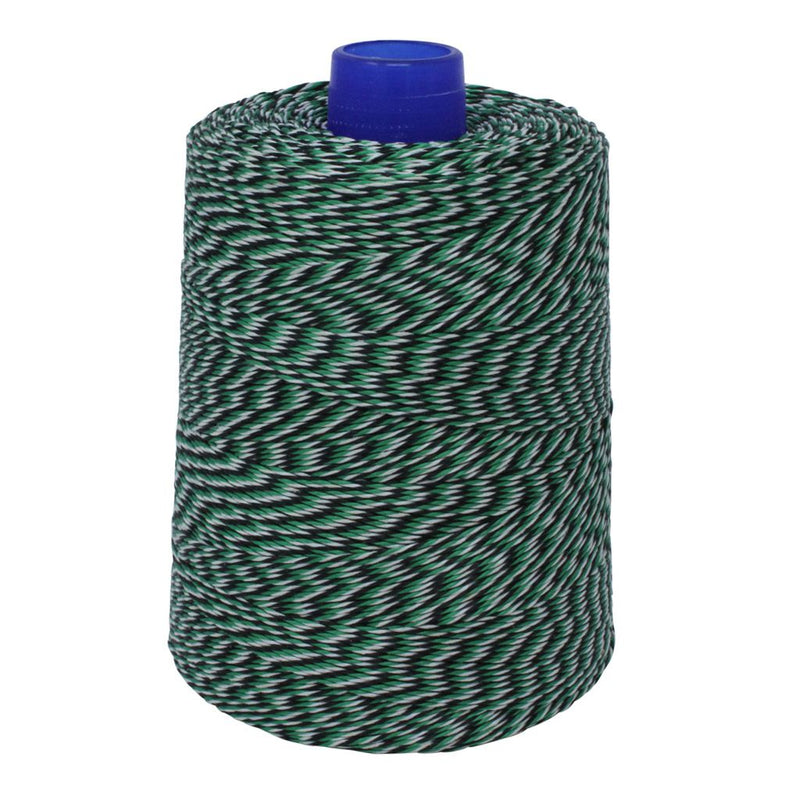 Black, White & Green Non-Elasticated 2000T Machine String/Twine  1050m/kg