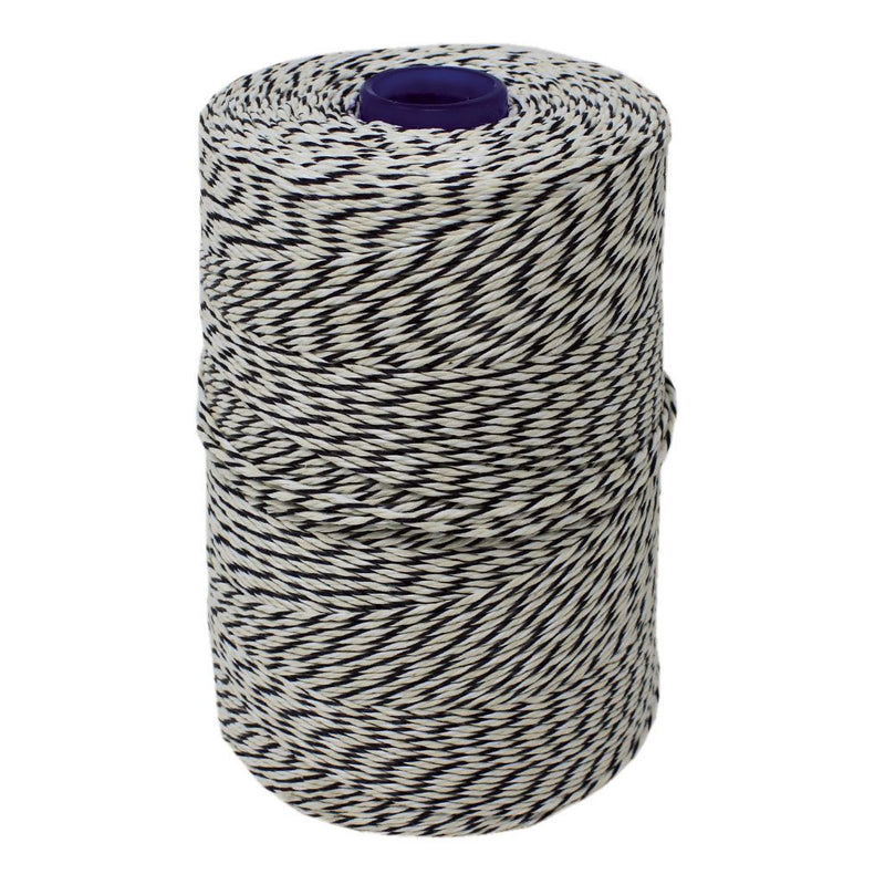 Black/White Non-Elasticated 2000T Machine String/Twine 1050m/Kg