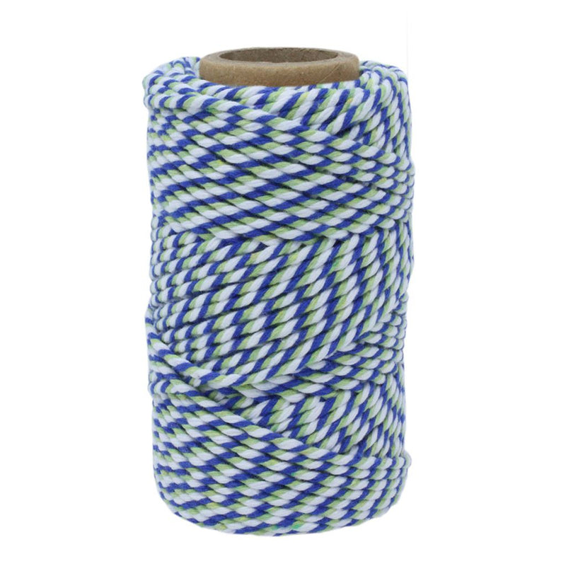 Blue, Green & White No.6 Cotton Bakers Twine