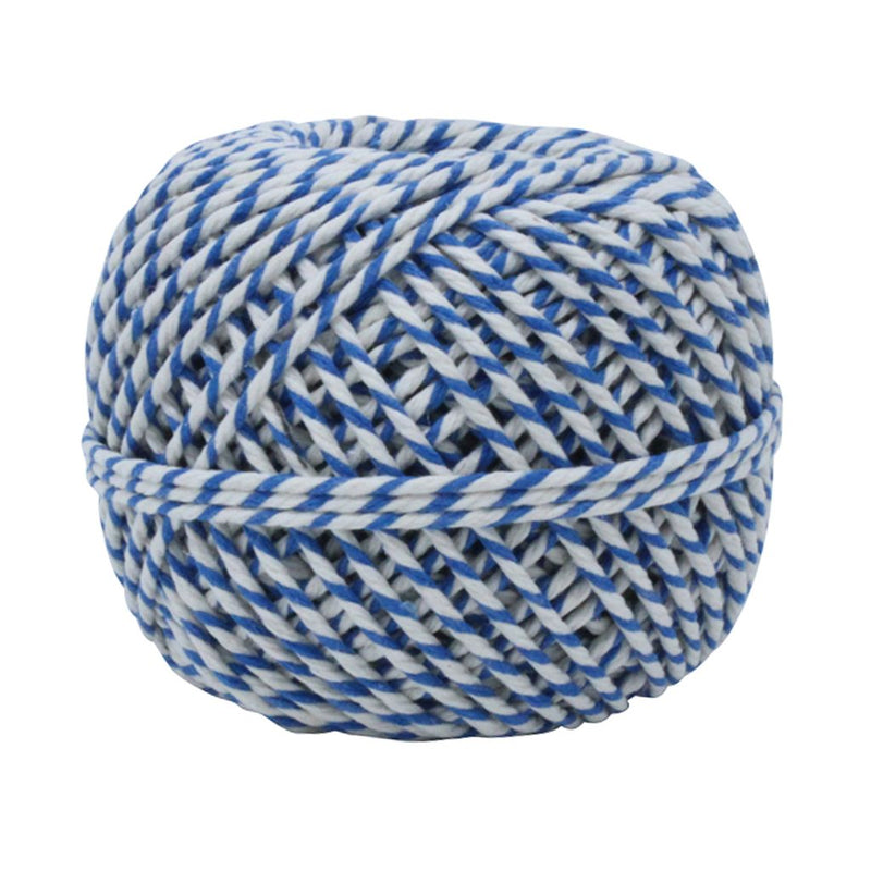 Blue & White 50m Cotton Twine Balls