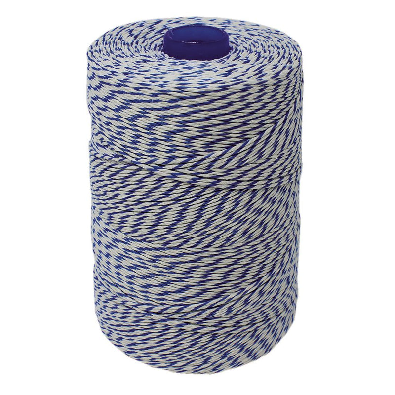 Blue/White Non-Elasticated 2000T Machine String/Twine 1050m/Kg