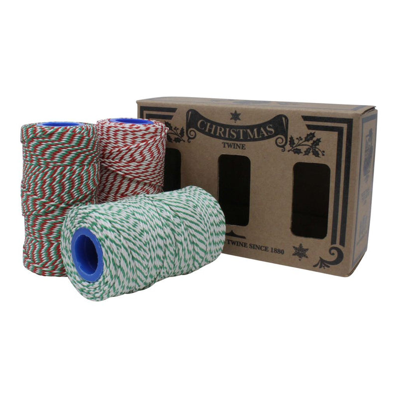 Christmas Butchers Twine Box Set - 3 x 100m Reels